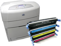 HP Color Laser with Toner cartridges